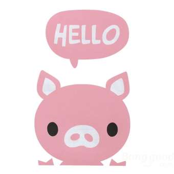 Harga Jetting Buy Switch Sticker Hello Little Pig Removable Wall Decor