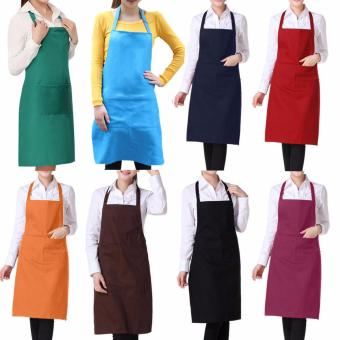 Harga Light Weight Polyester Kitchen Apron for Lady color:Red wine - intl