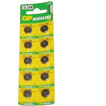 Harga GP Alkaline Cell 186 1.5V (LR43 V12GA D186A) Button Battery
