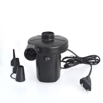 EU Plug AC 220V Electric Air Pump for Air Bed Boats Dolls Inflatable Bag Mattress With 3 Nozzles - intl Price in Singapore