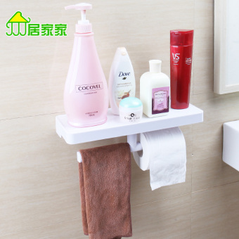 Harga Home home strong suction cup bathroom roll rack wash supplies finishing rack bathroom toilet shelving rack Wall