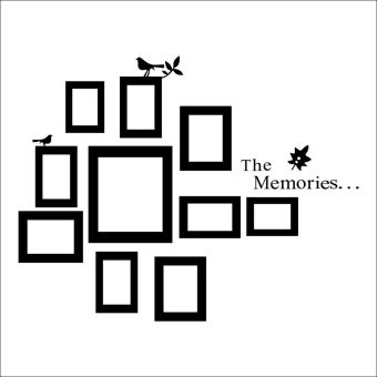 Harga Hequ Fashion Photo Picture Frame The Memories Quote Wall Sticker Art Decor Vinyl Removable Mural Decals