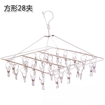 Stainless steel hanging clothes rack multi-clip hanging out clothes Underwear Socks clip windproof frame hanging clothes clip Hanging towel rack