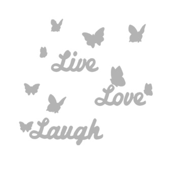 Harga DIY Mirror Butterfly Live Love Laugh Wall Sticker Home Decor Art Decal