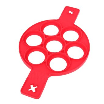 Harga 7 Holes Silicone Pancake Maker Creative Kitchen Fried Eggs Moulds - intl