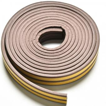 Harga Jetting Buy 5M E/D/I-type Foam Draught Self Adhesive Window Door Excluder Rubber Seal Strip (Coffee E)