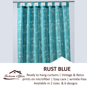 Harga RINCO BONINGTON Rust Blue Vintage Curtain