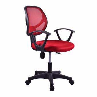 Harga Basic Office Chair Rein S02 Red,delivery-weekdays before 6pm