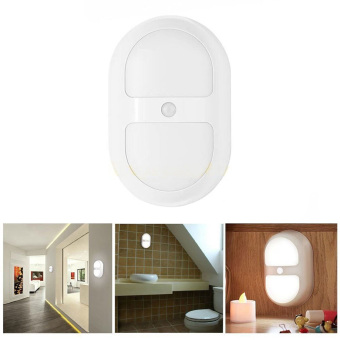 Harga Leegoal Stick Anywhere Motion Sensor LED Night Light With Dusk To Dawn Sensor Light Control Wall Lights (White)