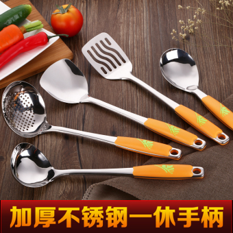 Spatula set cookware cooking shovel spoon fried shovel spoon full set seven sets of stainless steel kitchenware cookware kitchen