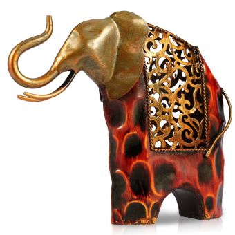 Harga carved iron art elephant Metal animal sculpture Home Furnishing Articles Handicrafts(Export)(Intl)