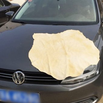 Harga Okdeals Natural Chamois Leather Car Cleaning Cloth Large
