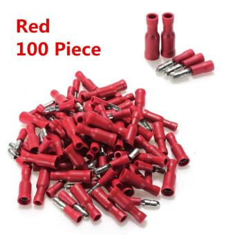 Harga 22-16 AWG Bullet Crimp Red Male Female Insulated Terminals Connector Wire 100PCS - Intl