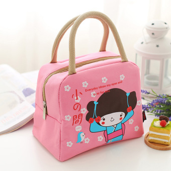 Harga Pupils with bowl cold insulation lunch bag lunch bag oxford cloth bag lunch bag portable mummy barrels of japan