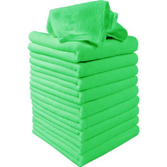 Harga 10pcs Green Microfibre Cleaning Auto Car Detailing Soft Cloths Wash Towel Duster