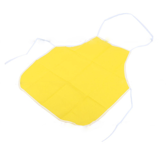 Harga Cute Kids Children Kitchen Baking Painting Apron(Yellow)