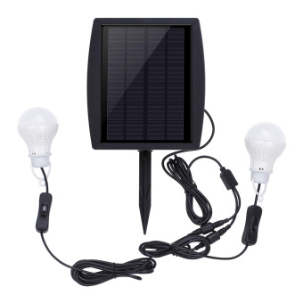 Harga Solar Power Led Light Portable Bulb Lamp Lighting System for Outdoor Camping Indoor Gardens Courtyards