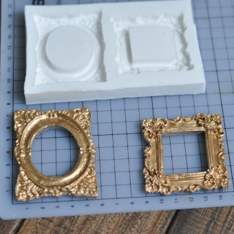 Harga Border frame silicone mold chocolate fondant mould rococo style frame mold