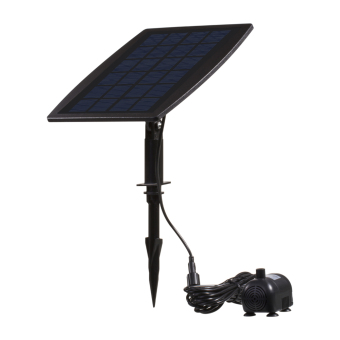 Harga Solar Power Panel Landscape Pool Garden Fountains Pluggable Solar Power Decorative Fountain 9V 2.5W Water Pump