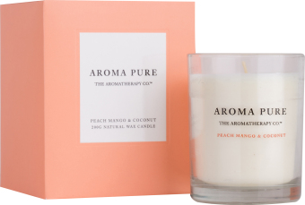 Harga The Aromatherapy Co. Aroma Pure Peach Mango & Coconut Candle 200g