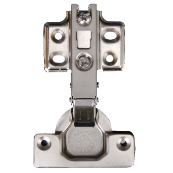 Harga Exquisite Stainless Steel Self Close Full Overlay Hinge Concealed Hardware Door (Silver)
