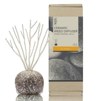 Harga Stone Ceramic Reed Diffuser 100ml - Lemongrass