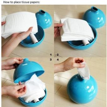 Harga Bomb Shape Tissue Paper Holder Boxes Sky Blue