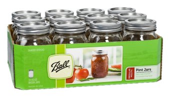 Harga Ball Mason 16oz Pint Regular Mouth Set of 12 (Clear)