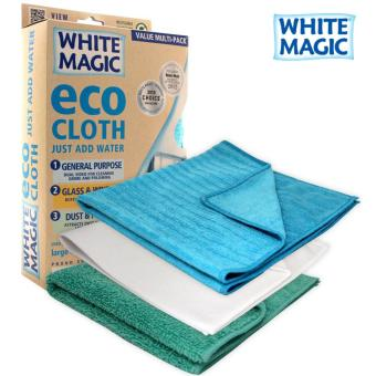 Harga White Magic Microfibre Household Value Pack Eco Cloth - 3 Pack