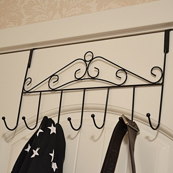 Harga Creative wrought iron door after seamless hook strong hanger clothes hanging clothes hanging door after door hook free nail hook