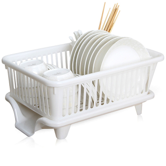Harga Put dry wash kitchen shelf dishes rack drain dish rack drip dishes drain basket storage basket large