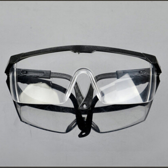 Harga New Safety Eye Protection Clear Lens Goggles Glasses From Lab Dust Paint Lab Black - intl