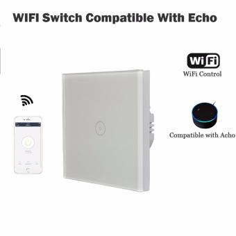 Harga Compatible Alexa Echo 1 Gang Wall Switch WiFi smart remote control Light Switch panel apk control - intl