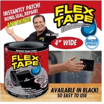 Harga FLEX TAPE - STRONG RUBBERIZED WATERPROOF TAPE * GRIP ON TIGHT * SUPER STRONG * INSTANT (BLACK)