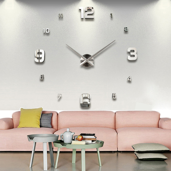 Vococal Modern DIY Large 3D Wall Sticker Clock for Home Office Decoration