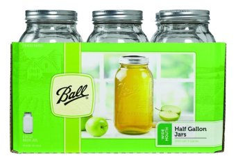 Harga Ball Wide Mouth Half Gallon 64 Oz Mason Jars (Set of 6)