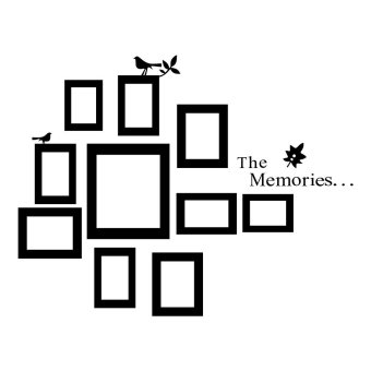 Harga 10x Picture Photo Frame Wall Black Wedding Frames Sticker Vinyl Decal DIY Gift
