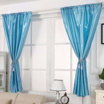 Harga Window Curtains (145cm*160cm – sky blue)