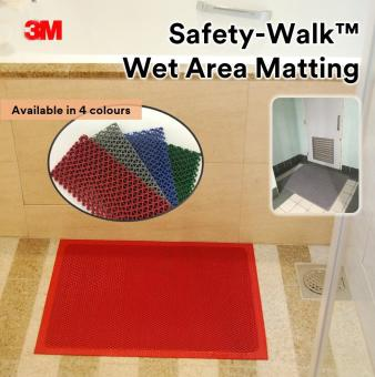 Harga 3M™ Safety-Walk™ Wet Area Matting 3200 Blue 0.6m x 0.9m