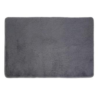 Harga GOOD New House Living Room Bedroom Carpet Anti-Skid Shaggy Area Rug Floor Mat Gray