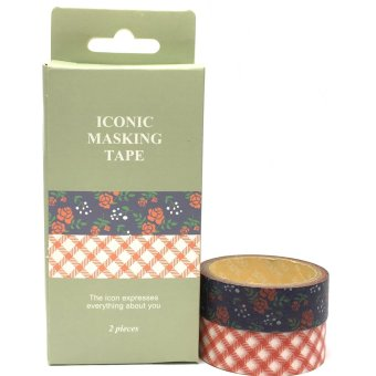 Harga Iconic Design Decorative Washi Masking Tapes (Multicolour)