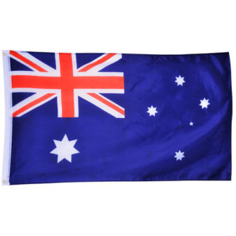 Harga Large 90x150cm 5 x 3FT National Supporters Sports Olympics Flags With Grommet - Australian flag (EXPORT)