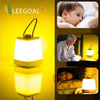 Harga Leegoal Portable LED Bedside Lamp Dimmable Bedroom Lamp Night Light For Adults And Children(Yellow Light)