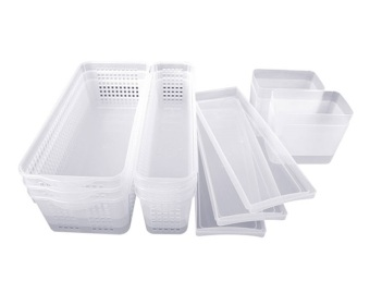 Harga Silicook 13 Pieces of Long Tray for Food Storage in Refrigerator(Fridge). Total Set.
