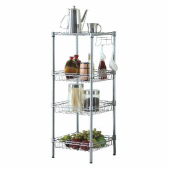 Harga Anti-rust 5 Tier Adjustable Storage Rack/Kitchen Rack