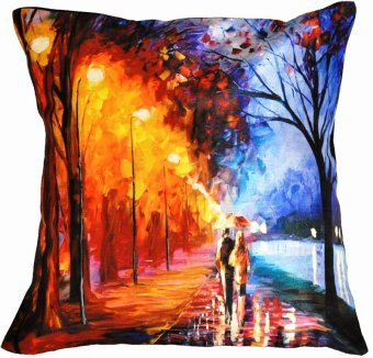 Harga IMG Cushion Cover Couple Painting 40x40cm or 16x16 inches BUY 1 get 1 FREE