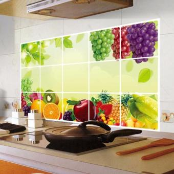 Harga CocolMax Kitchen Oilproof Removable Wall Stickers Art Decor Home Decal - intl
