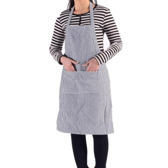 Harga New Striped Skirt Waiter Kitchen Chef Cooking Apron Blue - intl