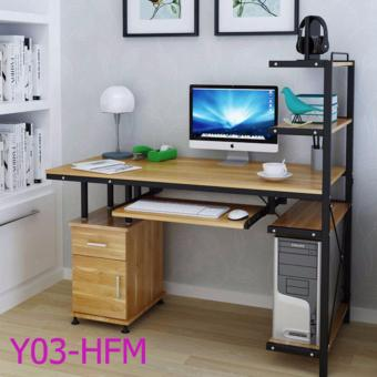 Harga Modern and simple design office/home use computer desk (Light Brown) Y03-HFM