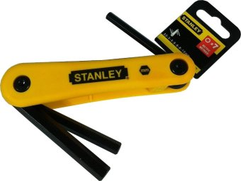 Harga STANLEY HEX KEY 7PC MET FOLD 2.5-10.0MM-69-262